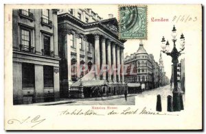 Postcard Old Mansion House London