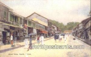 Ceylon, Ceylan, Sri Lanka Kandy Street Scene