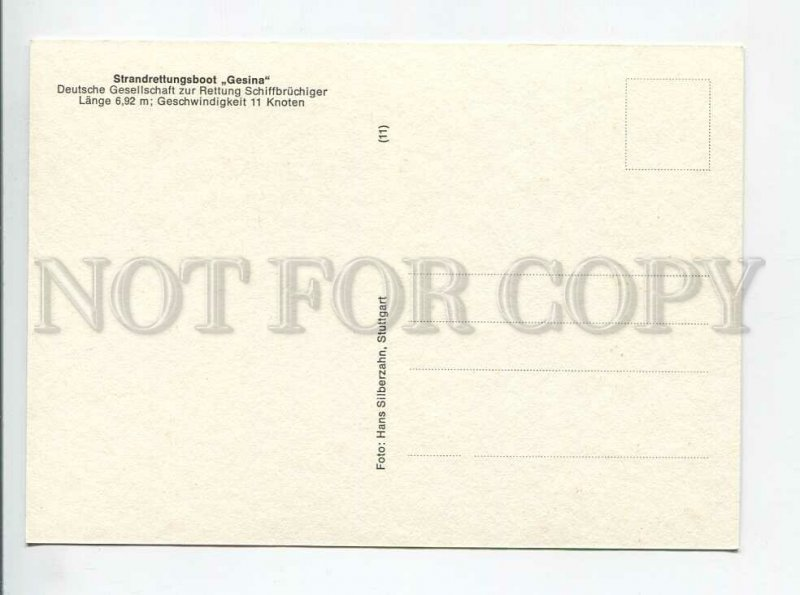 3179622 Ship Seenotkreuzer GESINA old postcard