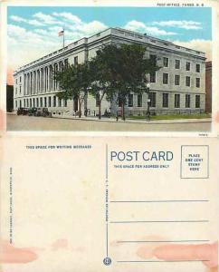 Post Office, Fargo North Dakota, ND, White Border