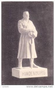 Marble Statue of Paul von Hindenburg German President, Luftschiff Zeppelin #1...