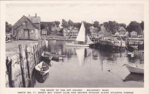 Massachusetts Rockport The Heart Of The Art Coloney Albertype