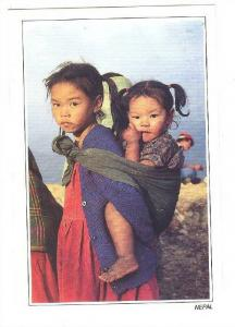 Children carrying children , NEPAL , 60-80s