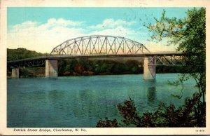 West Virginia Charleston Patrick Street Bridge 1942 Curteich