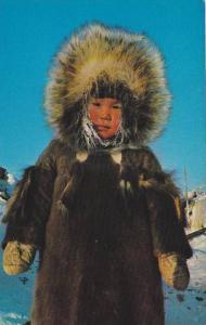 Eskimo Youngster, Yellowknife, Northwestern Territory, Canada, 40-60´s