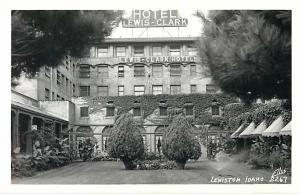 RPPC of Hotel Lewis - Clark, Lewiston, Idaho ID by Ellis #2267