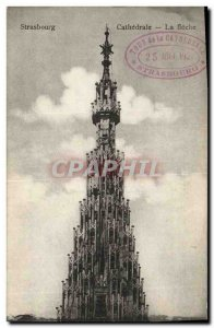Old Postcard Strasbourg Cathedral La Fleche