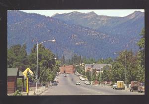 WEAVERVILLE CALIFORNIA 1950's CARS DOWNTOWN STREET SCENE VINTAGE POSTCARD CALIF