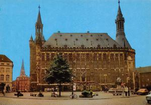 Bad Aachen Rathaus Town hall Auto Cars Bicycle