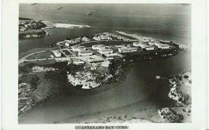 RPPC vintage 1954  postcard Guantanamo Bay, Cuba Aerial view posted