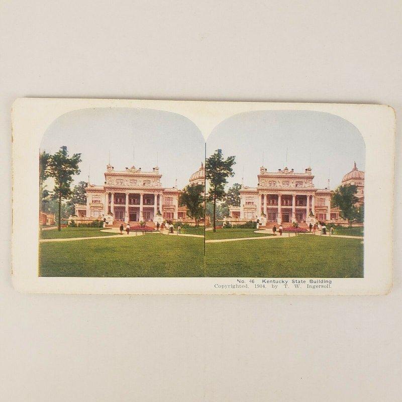 Kentucky Estado Edificio 1904st Louis Mundo Justo Exposición Expo Estereoscopia