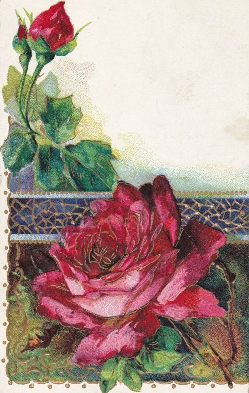 STILL LIFE, PU-1911; Red Roses, Gold details