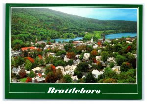 Postcard Brattleboro VT Vermont - Connecticut River M2