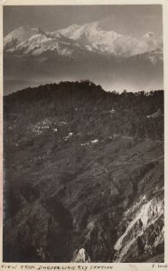 RP: DARJEELING , India , 1900-10s ; View From Railroad Station