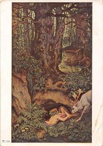 F.A. Ackermanns Kunstverlag, Munchen M.v.Schwind    Nymphs watering a stag
