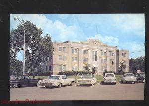 DE WITT ARKANSAS COUNTY COURT HOUSE 1960's CARS VINTAGE POSTCARD