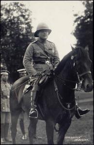 malay malaysia, JOHOR JOHORE, Sultan Ibrahim on Horse Back, Uniform (1910s) RPPC
