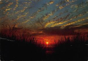 Belgium Middelkerke Zee zan Zon Sunset Sky Landscape Postcard