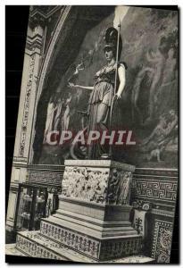 Old Postcard Chateau de Dampierre statue of Minerva