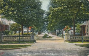 Entrance to Oxford Street corner of East Avenue Rochester NY New York pm 1908 DB