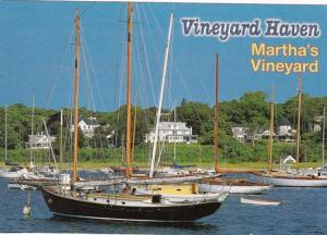 Massachusetts Martha's Vineyard Vineyard Haven Harbor View 1995