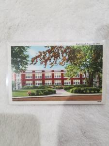 Antique Postcard, High School, Napoleon, Ohio