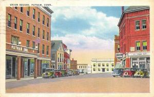 Putnam Connecticut~Union Square Street Scene~Ice Cream Bar~Coca-Cola~INN~1940 Pc