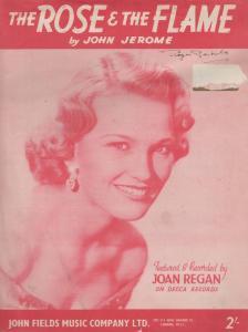 The Rose & The Flame Joan Regan 1950s Sheet Music