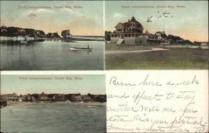 Onset Cape Cod MA Point Independence Multi-View c1910 Postcard