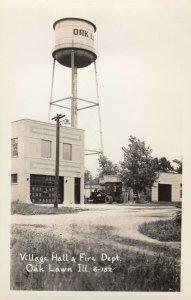 RP: OAK LAWN , Illinois , 1930-40s ;  Village Hall & Fire Department