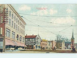 Unused Divided Back STREET SCENE Lewiston Maine ME hs3336@