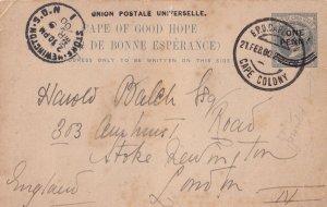 Cape Colony 1900 Antique Postmark Postcard