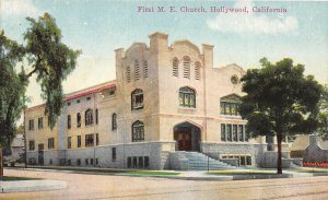 G26/ Hollywood California Postcard c1910 First M.E. Church Building