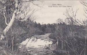 Maine China Trout Stream Near China 1908