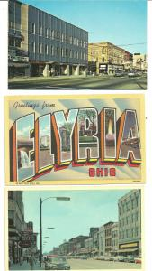 Lot of 10 Elyria, Ohio Postcards  50s - 70s