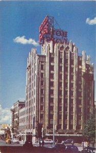 Boise Idaho Hotel 1940s Automobiles #C2090 Roberts Postcard 21-6191