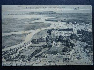 Dorset CHRISTCHURCH REGATTA Aviators View c1911 Postcard by W. Tucker & Son