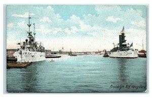 Postcard Navy Yard, Brooklyn NY 1908 Y58