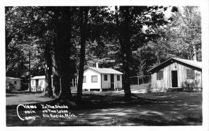 Elk Rapids Michigan Clems Cabin Camp Real Photo Antique Postcard K89786