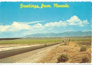 Greetings from Nevada, Hi-Way 40, unused Postcard