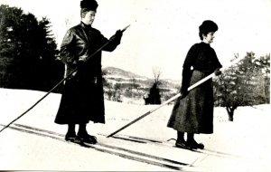 VT - Early Version of Skiing circa 1910  (Reproduction)