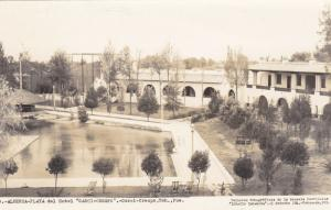 RP: TEHUACAN, Mexico, 1930-50s; Swimming Pool - Alberca, Playa Del Hotel Garci-