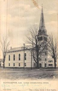Easthampton Massachusetts Payson Congregational Church Antique Postcard K49457