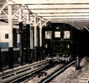 NY Subway Express Trains Spring St tunnel station 1905 looks the same undivided