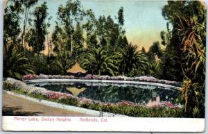 Redlands, California Postcard Mirror Lake, Smiley Heights w/ 1910 Cancel