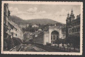 108688 CZECHIA spa city KARLOVY VARY Vridelni kolonada Vintage