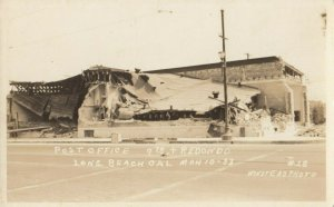 RP: LONG BEACH , California , 1933 ; Post Office after Earthquake