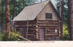Log Cabin At Fourth Lake In The Adirondack Mountains New York
