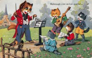 HUMANIZED DRESSED BANDMASTER CATS MUSIC ORCHESTRA FANTASY
