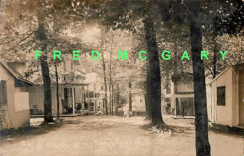 1911 Camp Ground OH RPPC: Rental Cottages on Second Street
